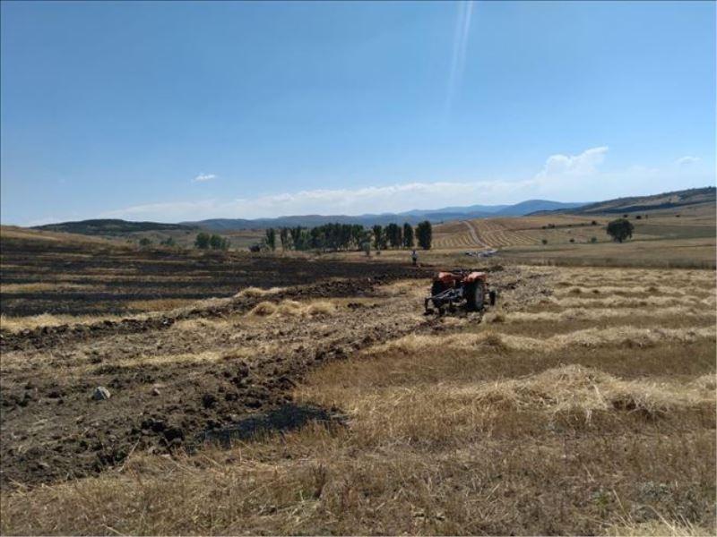 Karabük´te 25 dönümlük tarım arazisi yandı